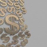 3d dollars op een grijs Stock Foto