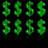 3D dollarsymbolen Stock Afbeelding