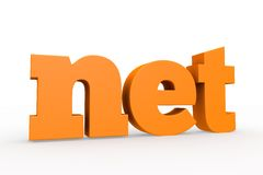 3d domain. The best-known domains, 3d format Stock Image