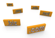 3d domain extension Royalty Free Stock Image