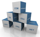 3d domain extension pyramid. 3d pyramid of popular domain name extensions