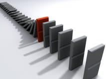 3d domino's Royalty-vrije Stock Afbeelding
