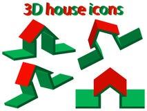 3d domowe ikony Zdjęcia Royalty Free