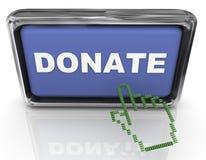 3d donan el botón y el puntero Fotografía de archivo libre de regalías