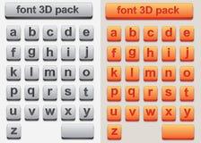 3D Doopvont Stock Fotografie
