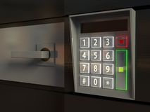 3d door, electronic lock or intercom Royalty Free Stock Image