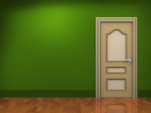 3d door and empty room Stock Images