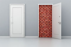 3d door no way out Royalty Free Stock Photography