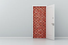 3d door no way out Stock Photo