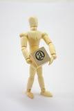 3D Doos van de Mens van de Holding @ (bij). Royalty-vrije Stock Foto's