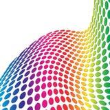 3d dots halftone retro απεικόνιση αποθεμάτων