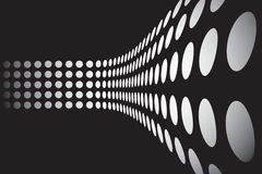 3D Dots Wall Layout Royalty Free Stock Photos