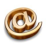 3D dourado no símbolo Fotografia de Stock Royalty Free