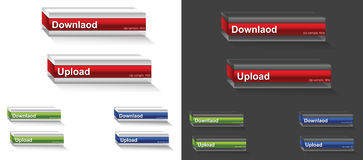 3D Download button Royalty Free Stock Photo