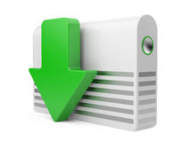 3d download icon Royalty Free Stock Image