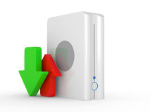 3d download icon Stock Photo