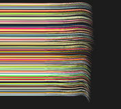 3d draadlijnen in verschillende heldere kleuren Royalty-vrije Stock Foto's