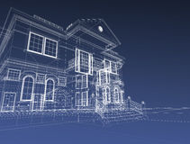 3d draw house Stock Images