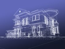 3d draw house Stock Image
