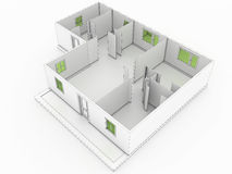 3d drawing of a building №2 Stock Photography