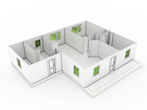3d drawing of a building №3 Stock Photo