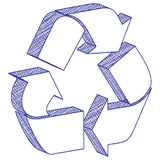 3D drawing recycling symbol Stock Photos