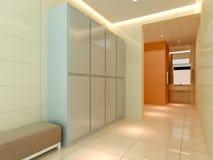 3D dressing room, corridor Royalty Free Stock Image