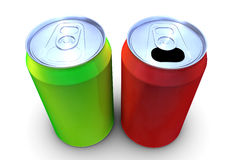 3d drink can Stock Photography