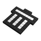 3d dumpster pixel icon. Black and white illustration Royalty Free Stock Image