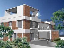 3d duplex house Stock Photo