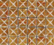 3d dwars abstracte gestreepte tegelachtergrond Stock Afbeelding