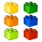 3d dzieci plastikowa cegieł zabawka Zdjęcie Royalty Free