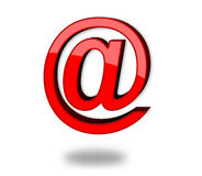 3d e-mail icon. 3d icon of e-mail , very good to use on website or blog and not only. Vibrant red color Royalty Free Stock Photo