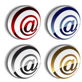 3D e-mail icons. Set of 3D e-mail icons - illustration Stock Photography