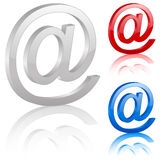 3D e-mail symbol. Set. Vector illustration Royalty Free Stock Image