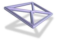 3D e-mailenvelopsymbool Stock Foto's