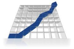 3D earnings graph Stock Photos