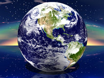 3D Earth. USA stock illustration