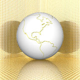 3d earth. With stripes texture Royalty Free Stock Image