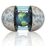 3d earth. With stripes texture Stock Images