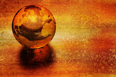3d earth. On grunge background Royalty Free Stock Photography