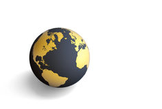 3d earth. On white background Royalty Free Stock Image