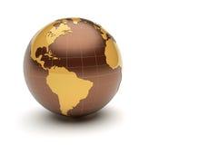 3d earth. On white background stock illustration