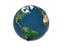 3d earth. 3d rendered earth with displace on white background Royalty Free Stock Images