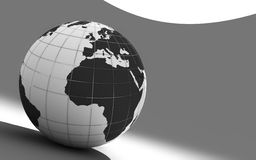 3d earth. On grey background Royalty Free Stock Photography