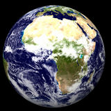 3D Earth. With Africa vector illustration