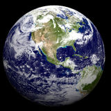 3D Earth. 3D Textured Earth United States / North America stock illustration