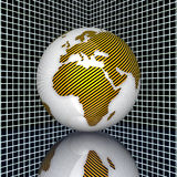 3d earth. With stripes texture Stock Photo
