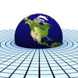 3d earth(americas) Stock Photo