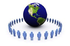 3d Earth And Men Royalty Free Stock Image